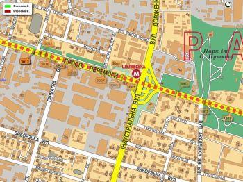 Карта - Троллы на Перемоги пр-т(конструкция №3012)