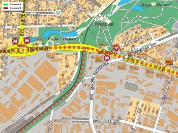 Карта - Троллы на Перемоги пр-т(конструкция №3014)