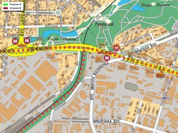 Карта - Троллы на Перемоги пр-т(конструкция №3015)
