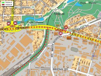 Карта - Троллы на Перемоги пр-т(конструкция №3021)