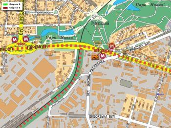 Карта - Троллы на Перемоги пр-т(конструкция №3023)