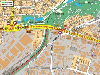 Карта - Троллы на Перемоги пр-т(конструкция №3025)