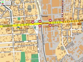 Карта - Троллы на Перемоги пр-т(конструкция №3027)