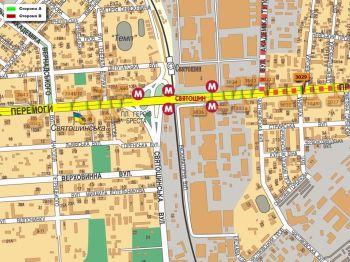 Карта - Троллы на Перемоги пр-т(конструкция №3029)