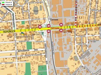 Карта - Троллы на Перемоги пр-т(конструкция №3033)