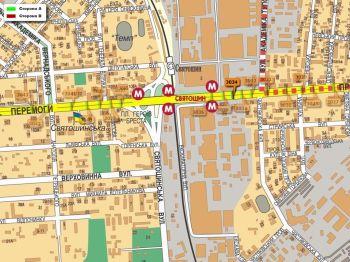 Карта - Троллы на Перемоги пр-т(конструкция №3034)