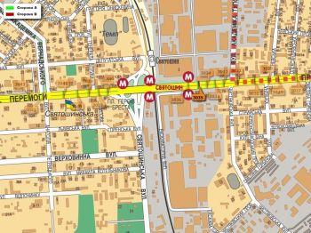 Карта - Троллы на Перемоги пр-т(конструкция №3035)