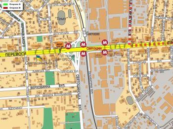 Карта - Троллы на Перемоги пр-т(конструкция №3037)