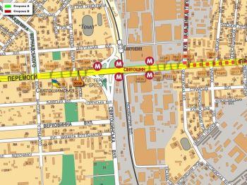 Карта - Троллы на Перемоги пр-т(конструкция №3038)