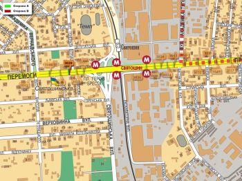 Карта - Троллы на Перемоги пр-т(конструкция №3039)