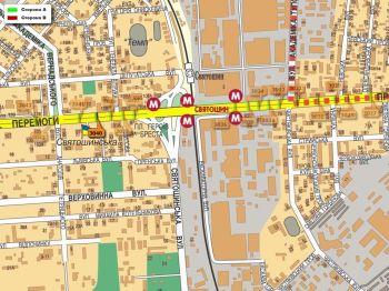 Карта - Троллы на Перемоги пр-т(конструкция №3040)