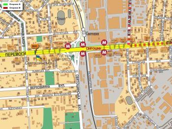 Карта - Троллы на Перемоги пр-т(конструкция №3041)