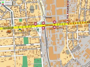 Карта - Троллы на Перемоги пр-т(конструкция №3042)