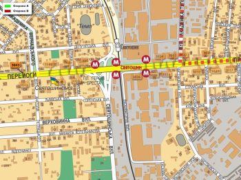 Карта - Троллы на Перемоги пр-т(конструкция №3043)