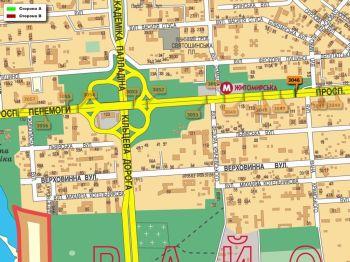 Карта - Троллы на Перемоги пр-т(конструкция №3046)