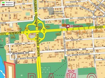 Карта - Троллы на Перемоги пр-т(конструкция №3050)