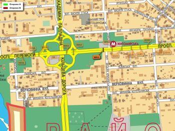 Карта - Троллы на Перемоги пр-т(конструкция №3051)