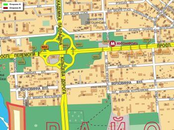 Карта - Троллы на Перемоги пр-т(конструкция №3054)