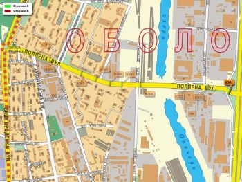 Карта - Троллы на Полярна вул.(конструкция №8301)