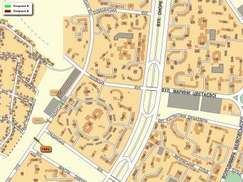 Карта - Троллы на Радунська вул.(конструкция №7401)