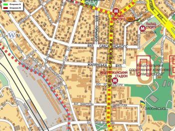 Карта - Троллы на Рогнідинська вул.(конструкция №1501)