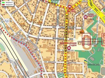 Карта - Троллы на Саксаганського вул.(конструкция №801)
