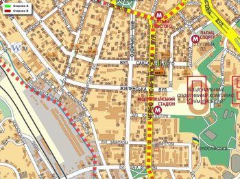Карта - Троллы на Саксаганського вул.(конструкция №803)