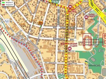 Карта - Троллы на Саксаганського вул.(конструкция №804)