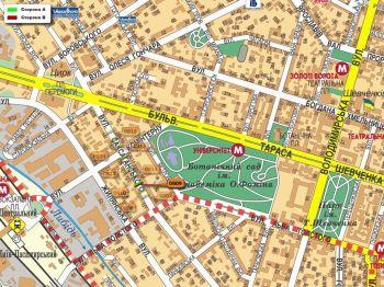 Карта - Троллы на Саксаганського вул.(конструкция №809)
