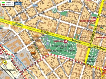 Карта - Троллы на Саксаганського вул.(конструкция №810)