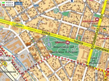 Карта - Троллы на Саксаганського вул.(конструкция №814)