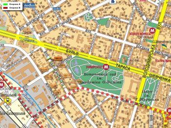 Карта - Троллы на Саксаганського вул.(конструкция №815)