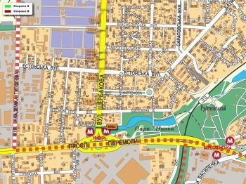 Карта - Троллы на Щербакова вул.(конструкция №5501)