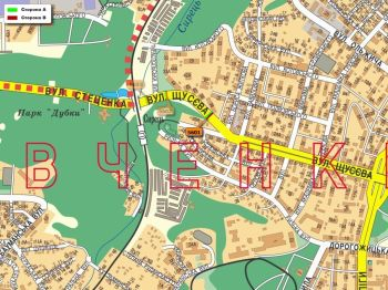 Карта - Троллы на Щусєва вул.(конструкция №5601)