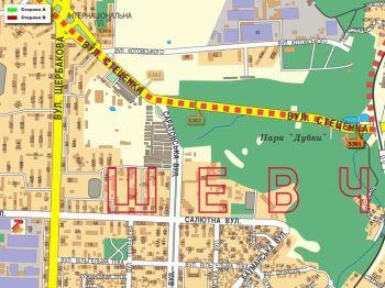 Карта - Троллы на Стеценка вул.(конструкция №5301)