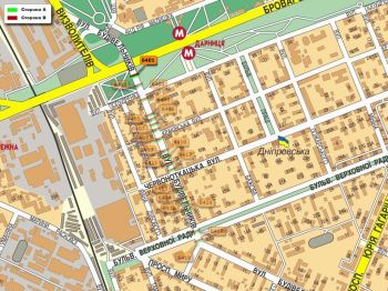 Карта - Троллы на Будівельників вул.(конструкция №6401)