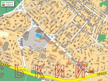 Карта - Троллы на Свободи пр-т(конструкция №7501)