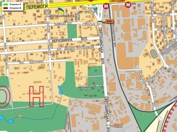 Карта - Троллы на Святошинська вул.(конструкция №8501)