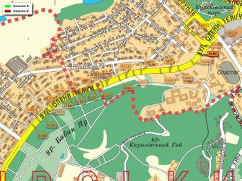 Карта - Троллы на О.Теліги вул.(конструкция №5104)
