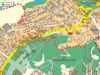 Карта - Троллы на О.Теліги вул.(конструкция №5108)