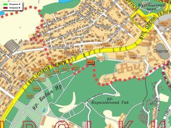 Карта - Троллы на О.Теліги вул.(конструкция №5112)