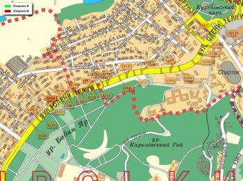 Карта - Троллы на О.Теліги вул.(конструкция №5122)