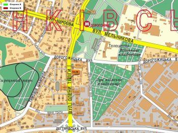 Карта - Троллы на О.Теліги вул.(конструкция №5129)