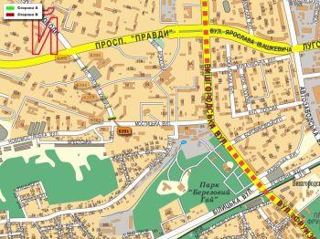 Карта - Троллы на Н.Ужвій вул.(конструкция №8201)