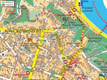 Карта - Троллы на Володимирська вул.(конструкция №501)