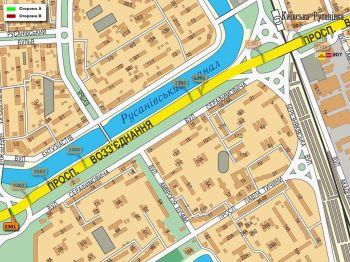 Карта - Троллы на Возз`єднання пр-т(конструкция №2301)