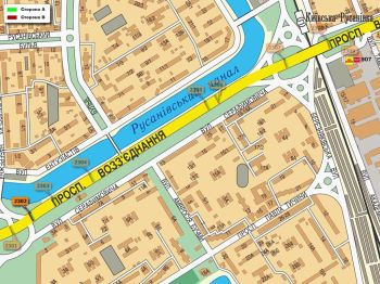 Карта - Троллы на Возз`єднання пр-т(конструкция №2302)