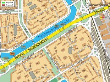 Карта - Троллы на Возз`єднання пр-т(конструкция №2303)