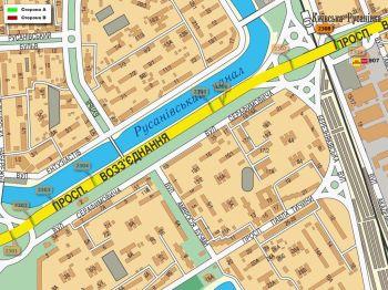 Карта - Троллы на Возз`єднання пр-т(конструкция №2308)