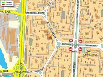 Карта - Троллы на Зої Гайдай вул.(конструкция №4401)